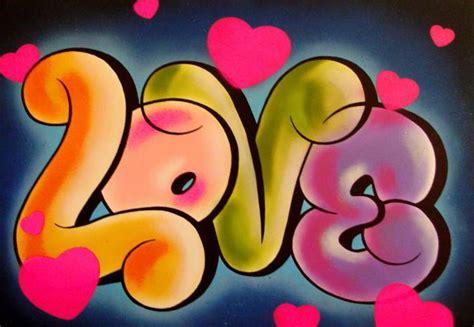 graffitiletterslove simple love bubbles letters