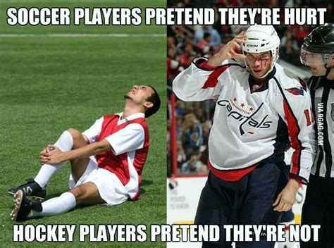 Soccer Player Meme - soccer players pretend they re hurt hockey players