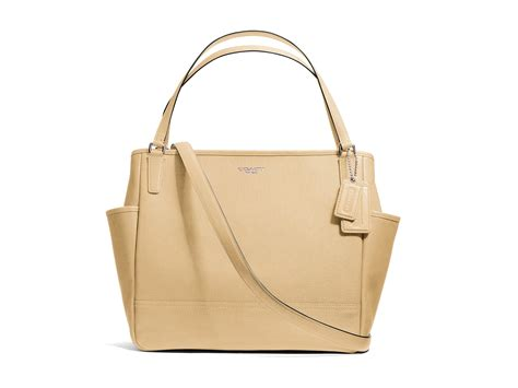Coach Babybag Saffiano Leather Baby Bag Tote Yellow coach baby bag tote in saffiano leather coach wholesale