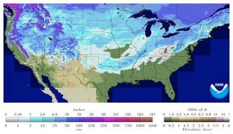 snow cover map usa 65 percent of usa covered by snow earth changes sott net