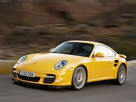 yellow porsche side view 2010 yellow porsche 911 turbo wallpapers