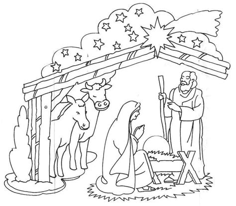 coloring pictures of baby jesus in a manger coloring pages