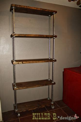 industrial stand alone bookcase diy home