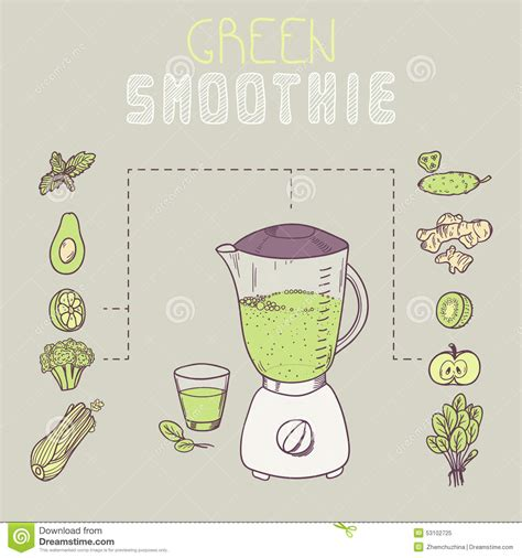 Green Smoothie Template Receipt In Vector Stock Vector Image 53102725 Smoothie Website Template