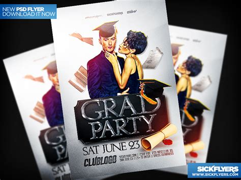 graduation party flyer template by industrykidz dribbble