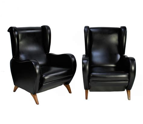 Reclining Armchairs by Pair Of Marco Zanuso Reclining Armchairs