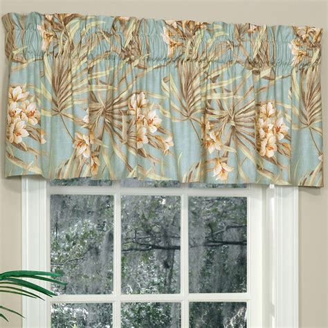 Tailored Valances For Windows Martinique Tropical Tailored Window Valance