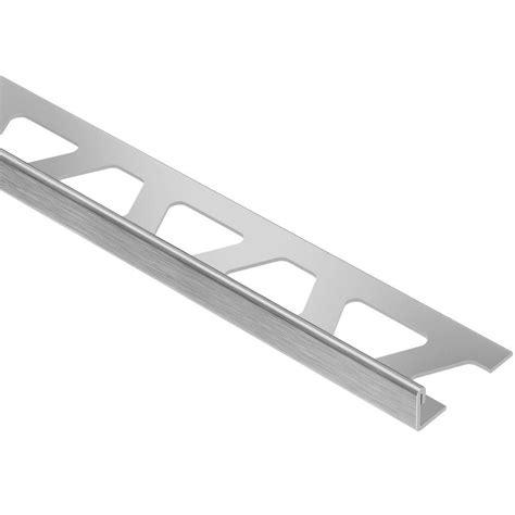 stainless steel floor l schluter schiene brushed stainless steel 3 8 in x 8 ft 2