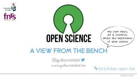a view from the bench openaire sessions open science a view from the bench