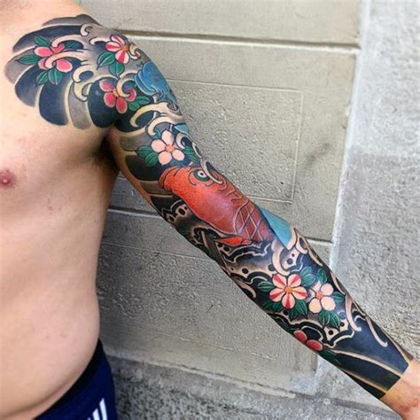 japanese arm tattoos for men 50 japanese flower designs for floral ink ideas