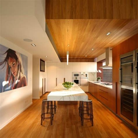 Rustic Kitchen Island Lighting by 32 Ideas For False Ceiling Designs Made Of Wood Ceiling Panels