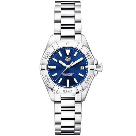 Tag Heuer Aquaracer Steel For tag heuer aquaracer 27mm steel blue bracelet