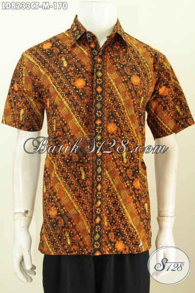 Elegan Pakaian Kemeja Batik Motif Melati baju kemeja elegan lengan pendek pakaian batik trend motif terkini proses cap tulis untuk