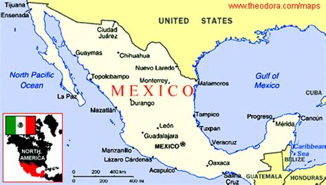 map of the country of mexico mexico