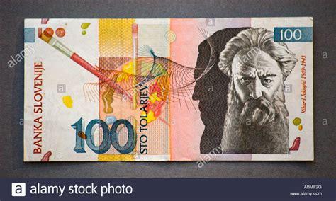 Tolar by Slovenia 100 Tolar Note Stock Photo Royalty Free Image