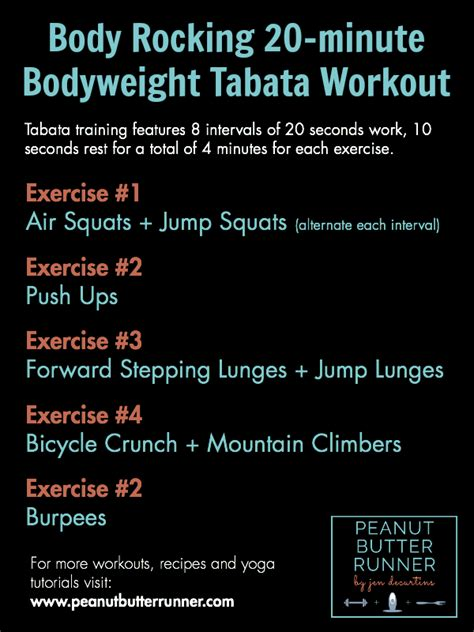 at home bodyweight tabata workout