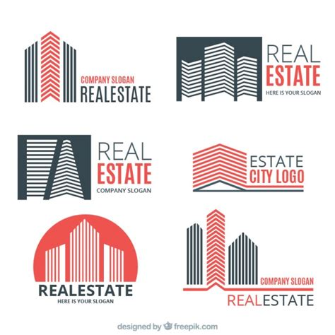 Real Estate Logo Templates by Coloured Real Estate Logo Templates Vector Free