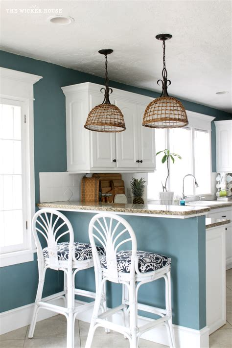 paint for kitchen walls my fresh new blue kitchen reveal the wicker house