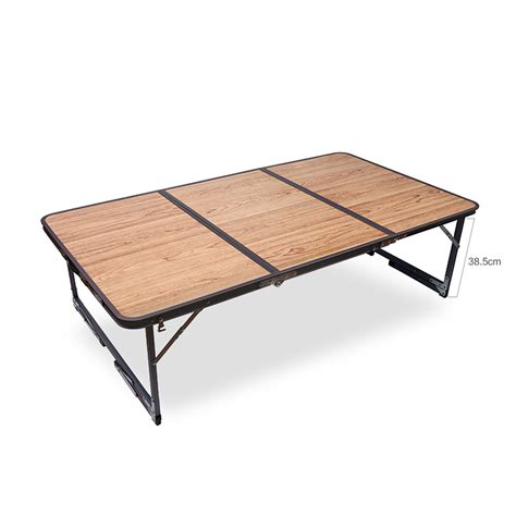 Outdoor Folding Dining Table 54 Quot Aluminium 3 Side Folding Table Cing Picnic Dining Outdoor Indoor Portable Ebay
