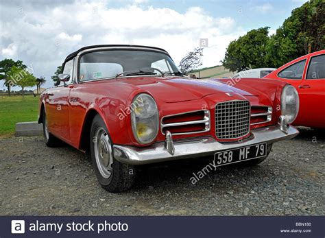 french sports cars old classic french facel vega sports car automobile stock