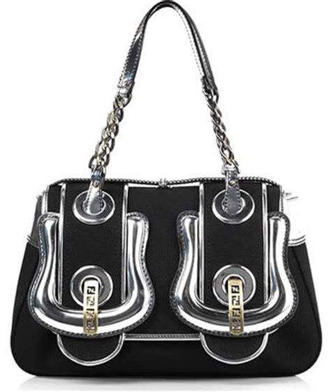 Canvas And Wicker B Fendi Bag by Fendi Black And Silver Canvas B Bag Purseblog