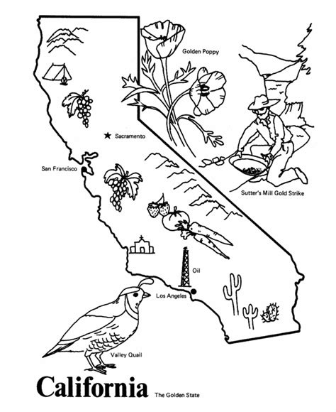 california state seal coloring page az coloring pages