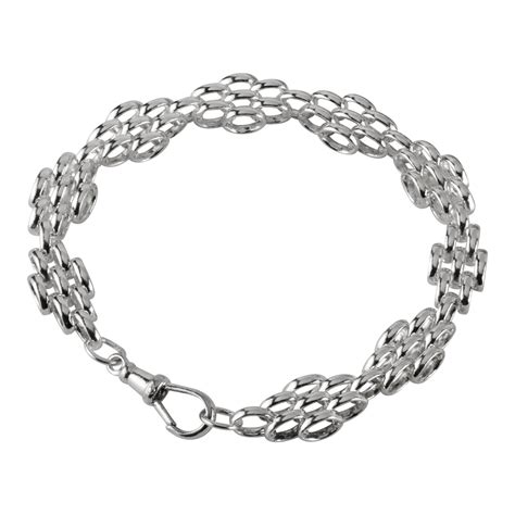 Handmade Silver Bracelets - handmade sterling silver oval links bracelet 8 25 inches