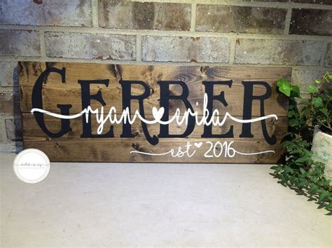 Handmade Wooden Signs Personalized - 17 best ideas about personalized wooden signs on