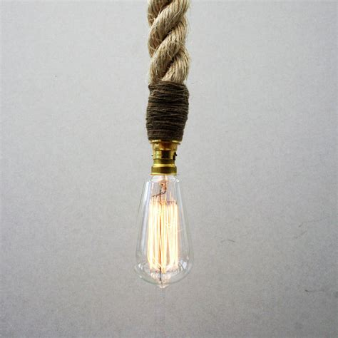 Rope Pendant Light Edison Rope Pendant Light By Unique S Co Notonthehighstreet