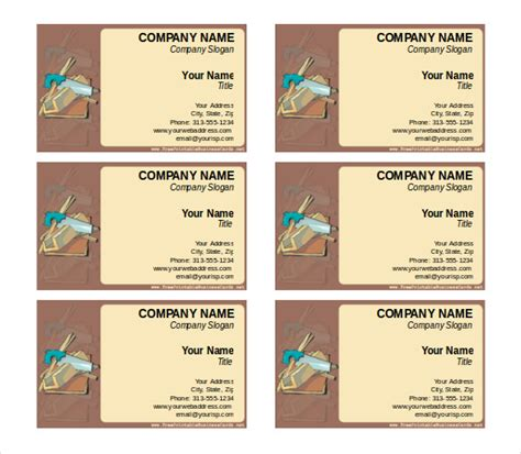 business card word template free free business cards templates microsoft word