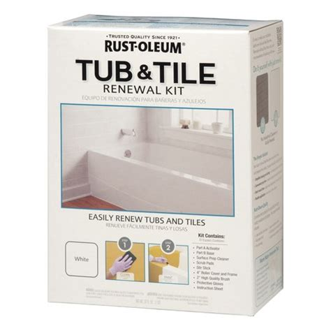 rustoleum bathtub paint rust oleum tub and tile refinishing kit walmart com