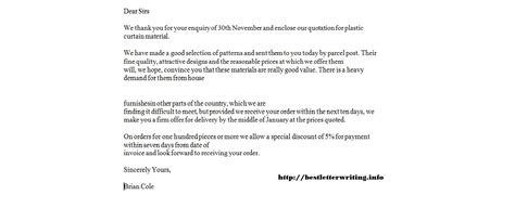 Official Quotation Letter Sle Business Letter Quotation Letter Sle 28 Images