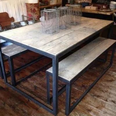 comedor industrial vintage metal madera