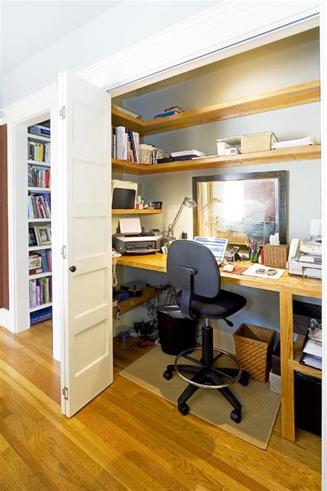 Closet Office Downsize My Space Home Office Closet Ideas