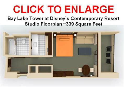 bay lake tower one bedroom villa floor plan blt studio for family of 4 the dis disney discussion