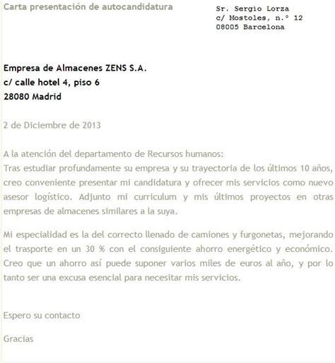 Ejemplo De Curriculum De Jefe De Recursos Humanos carta de presentaci 211 n laboral ejemplo
