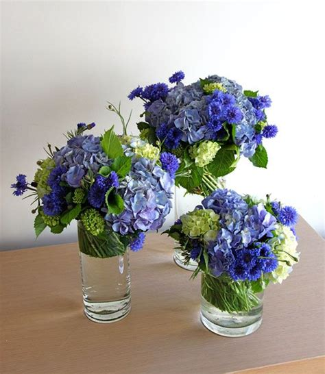 Wedding Reception Flower Centerpiece by Blue Reception Wedding Flowers Wedding Decor Blue