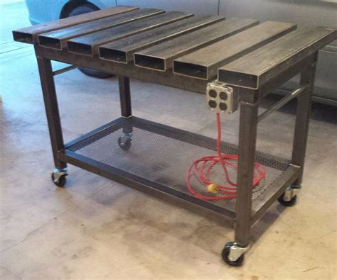 Metal Shop Table by Welding Table 5