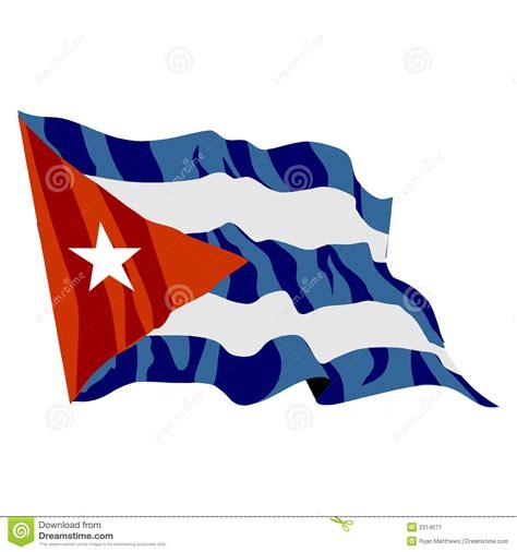 cubaanse vlag stock illustratie afbeelding bestaande uit