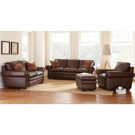 steve silver leather sofa yosemite 4 piece leather sofa set in chestnut yo900s l c