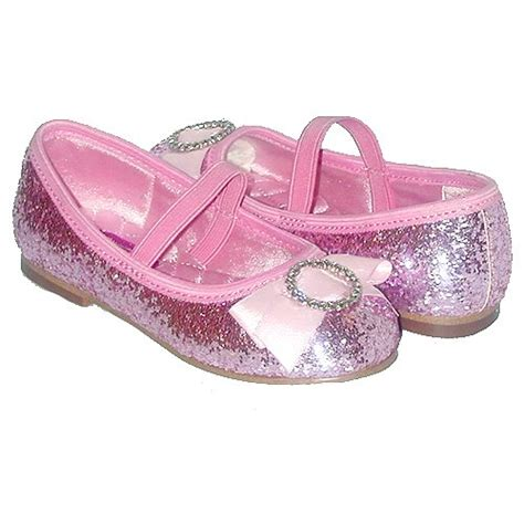 toddler footwear pink glitter bow slip