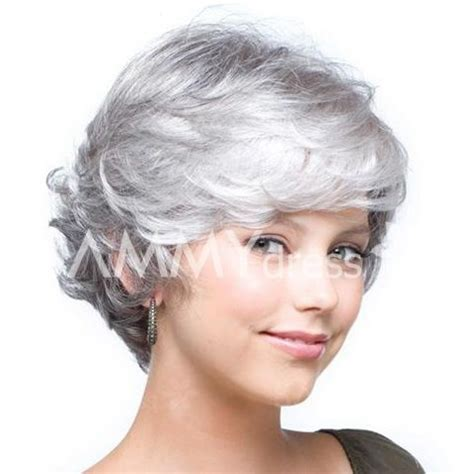 cheap haircut elk grove mixed color side parting short wavy fashion synthetic hair