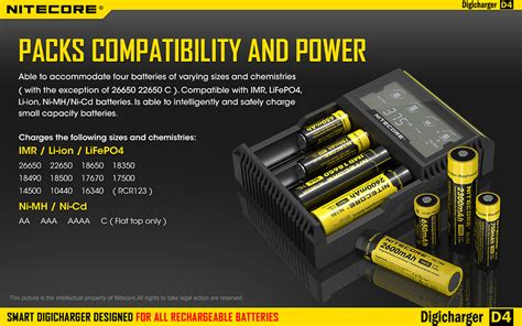 Nitecore Digicharger Universal Battery Charger 2 Slot Fo 1vbw5p Black 2 nitecore digicharger universal battery charger 4 slot for