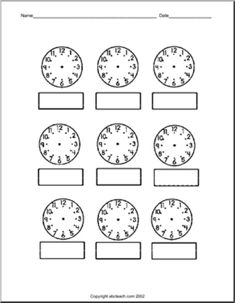printable clock faces ks2 blank clock faces worksheet ks1 search results