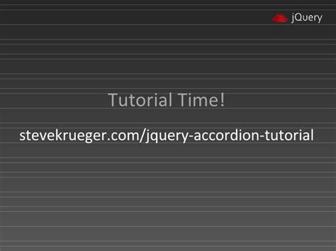 tutorial jquery accordion designers guide to jquery