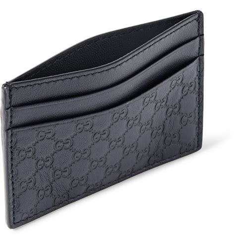 Lyst   Gucci Embossed Leather Cardholder in Blue for Men