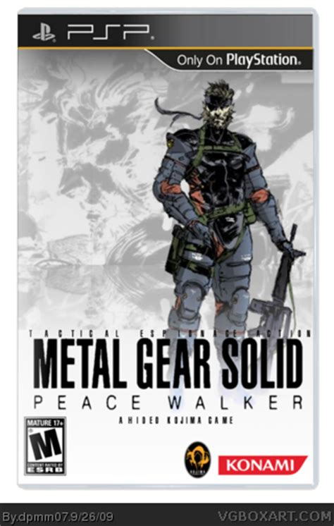 Po Import Console Psp Metal Gear Solid Peace Walker Premium metal gear solid peace walker psp box cover by dpmm07