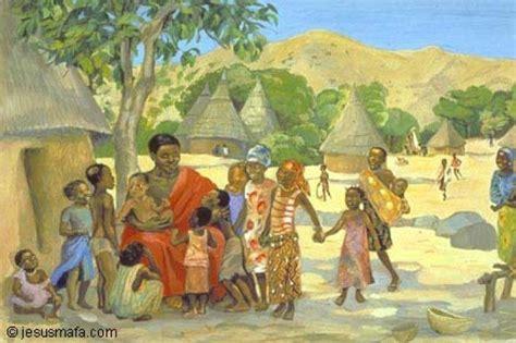 painting on mafa vie de jesus mafa n 176 41 jesus and the children mc 10
