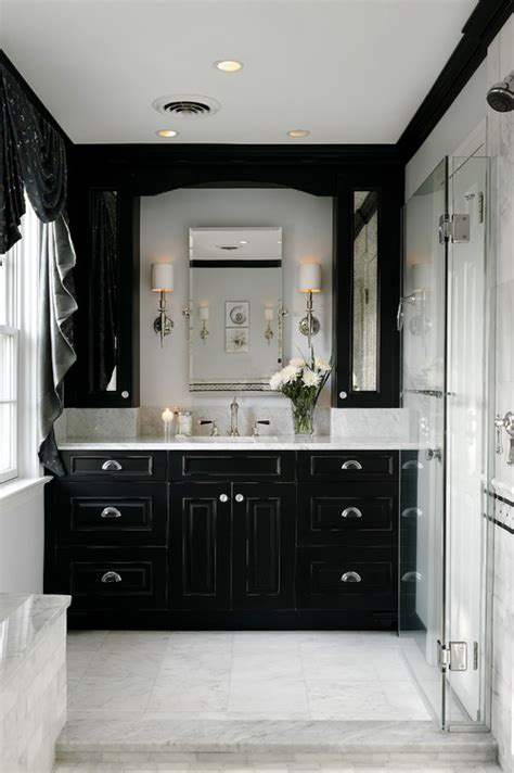 black bathroom cabinet ideas lax to yvr black and white bathroom inspiration