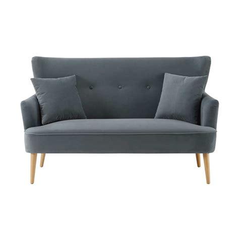 2 seater velvet sofa grey 2 seater velvet sofa leon maisons du monde